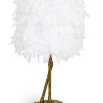 Hello Bird White Feather Lamp £150