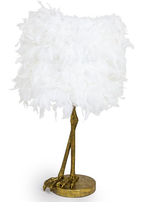 Hello Bird White Feather Lamp