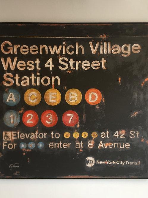Greenwich Village Station Canvas