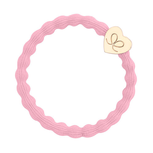 Gold Heart Ballet Pink Bangle Band