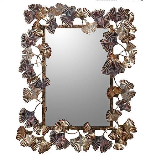 Ginkgo Leaf Wall Mirror