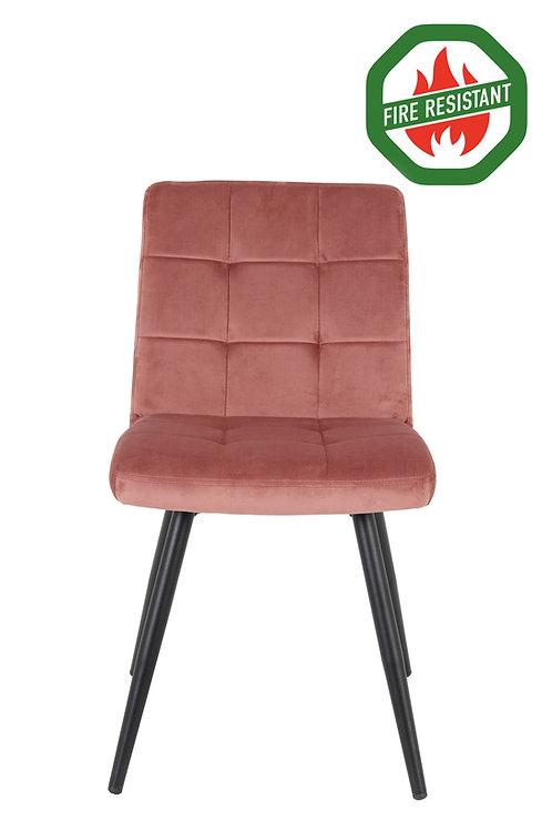 Dinning Chair Velvet Pink