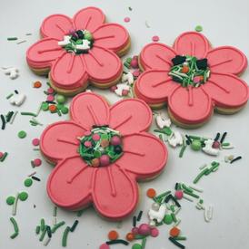 SpringCookie-PinkFlowers