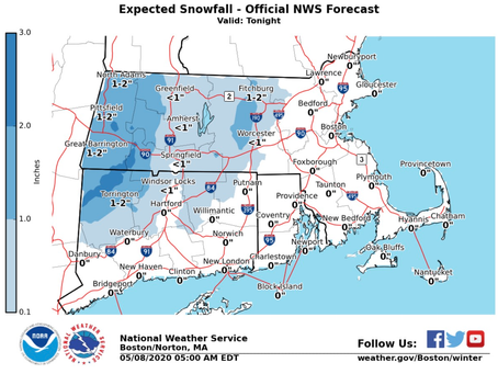 Snow in May: Potential snow arriving Friday night and Saturday