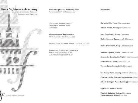 Academia Sighisoara 2020