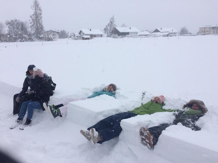 Jährliches Schneezeremoniell in Pinswang