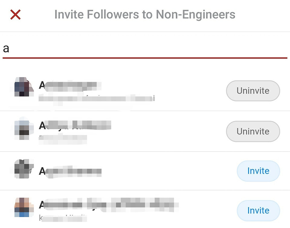 Invite all Quora Followers to Spaces