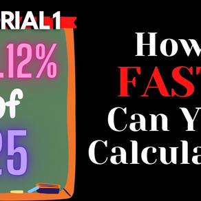 Worksheet 1 - Tricks to Calculate Percentages Faster