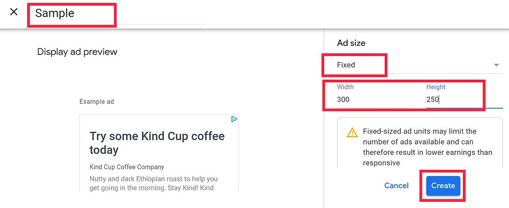 Google AdSense Wix Blog Post Fixed Ads