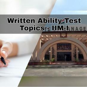 WAT Topics - IIM Indore