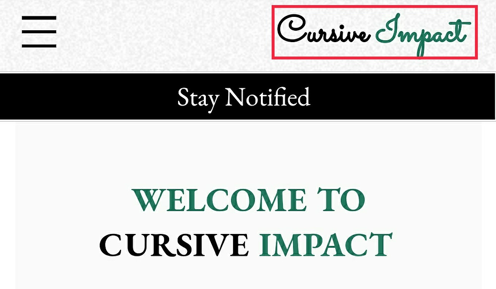 Cursive Impact Logo