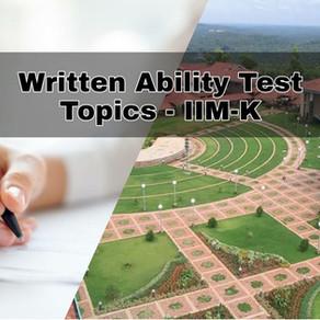 WAT Topics - IIM Kozhikode