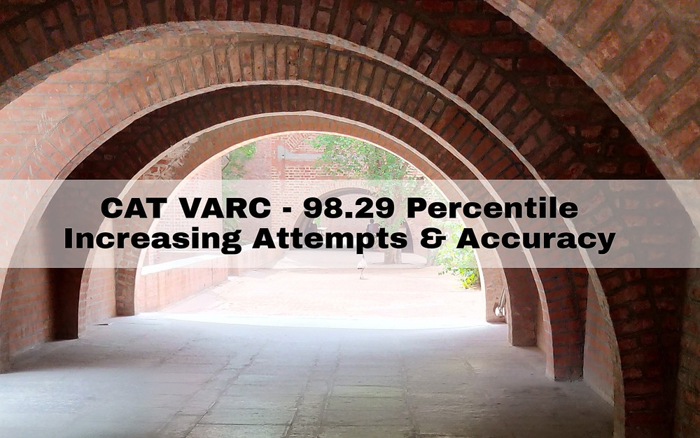 CAT VARC 98.29 percentile Attempts Accuracy