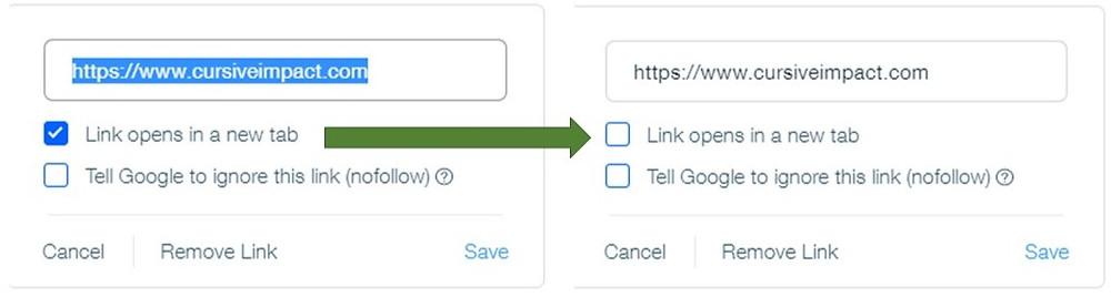 Wix Default Blog Link