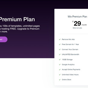 Wix 29 Per Month Plan is No Longer Available in India