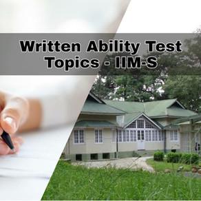 WAT Topics - IIM Shillong