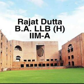 Rajat Dutta   IIM Ahmedabad Interview Experience