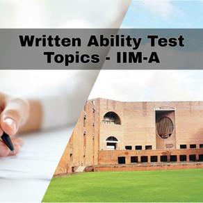 WAT Topics - IIM Ahmedabad