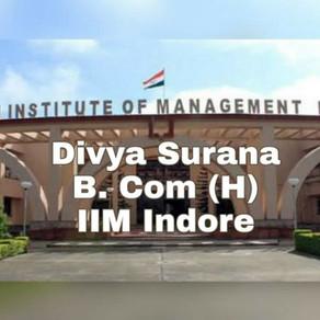 Divya Surana | IIM Indore Interview Experience