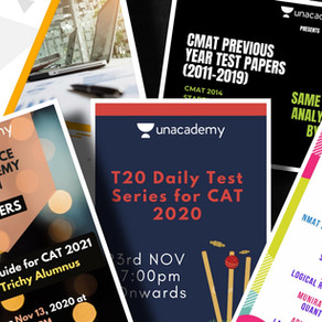 Unacademy CAT Free Resources & Free NMAT, TISSNET, CMAT, IIFT Past Year Papers