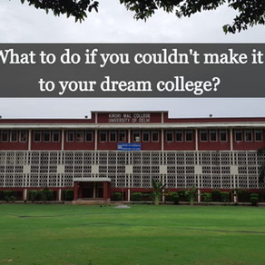 For DU Students Who Couldn't Get Into Their Dream College