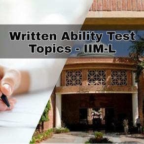 WAT Topics - IIM Lucknow