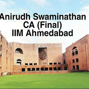 Anirudh Swaminathan   IIM Ahmedabad Interview Experience