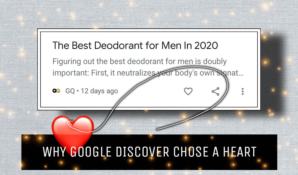 Google Discover Heart