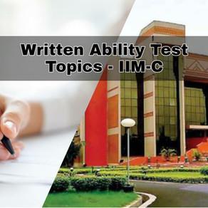 WAT Topics - IIM Calcutta