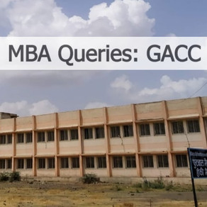 MBA Queries: Government Arts & Commerce College (GACC)