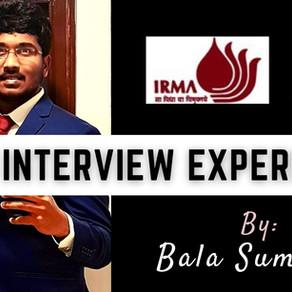 IRMA Interview Experience - Bala Sumanth | CAT 2020 Convert