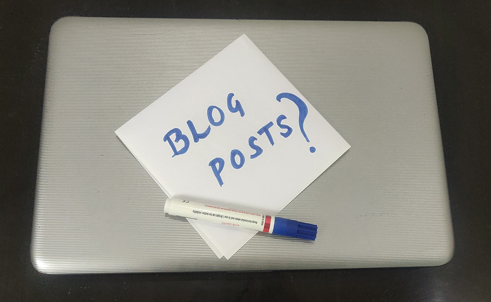 How many blog posts first month