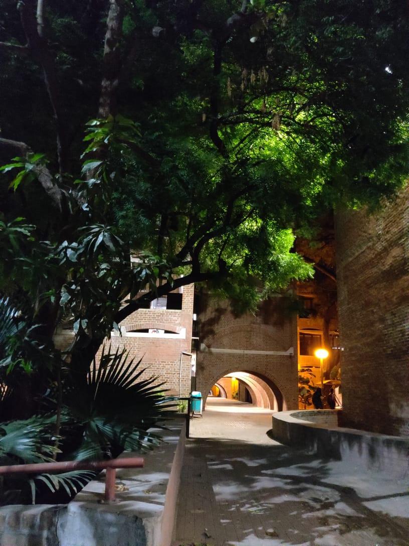 IIM Ahmedabad during night time