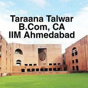 Taraana Talwar   IIM Ahmedabad Interview Experience