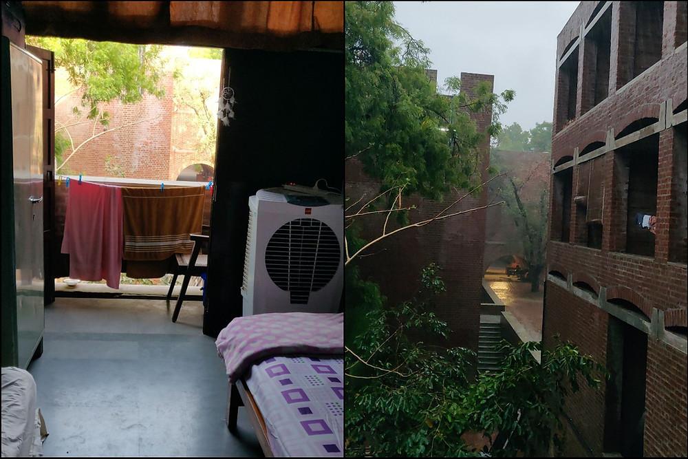 IIM Ahmedabad Dorm Room Balcony View