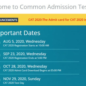 Now That You Have Your CAT 2020 Admit Card, Do This