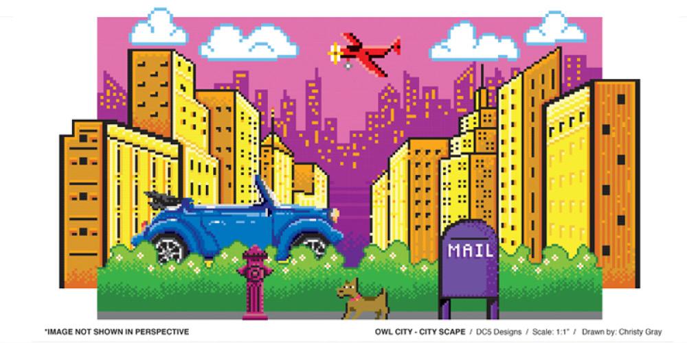 Owl City Music Video Set Graphics