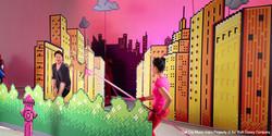 Owl City Set Graphics on Set