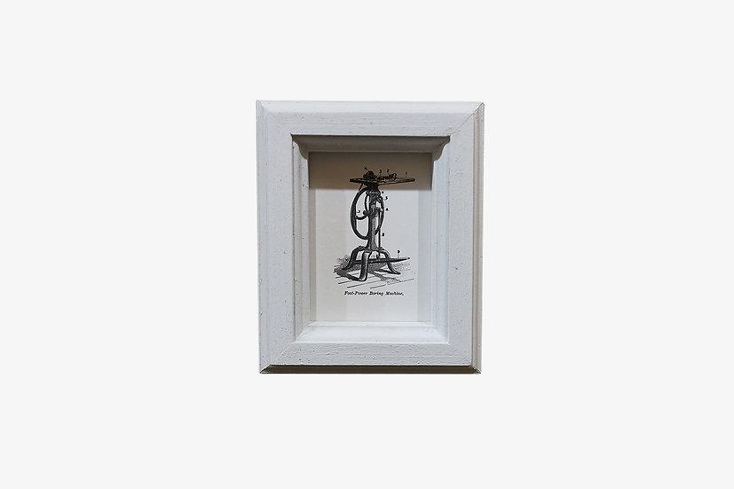 L版WH|玄関ドア~石膏ボードの壁|国産杉のくっつく額縁