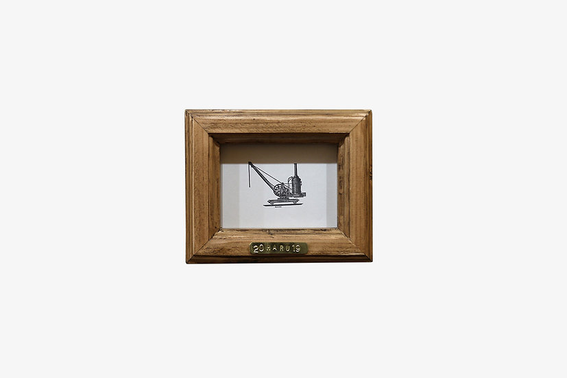 L版BR|玄関ドア~石膏ボードの壁|国産杉のくっつく額縁