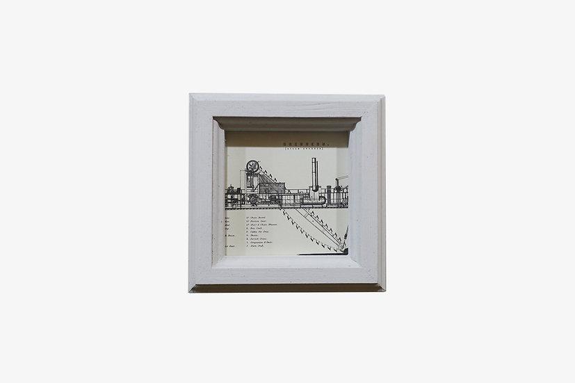 2L版正方形WH|玄関ドア~石膏ボードの壁|国産杉のくっつく額縁