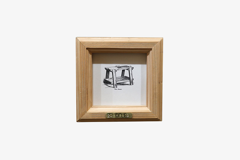 2L版正方形CL|玄関ドア~石膏ボードの壁|国産杉のくっつく額縁