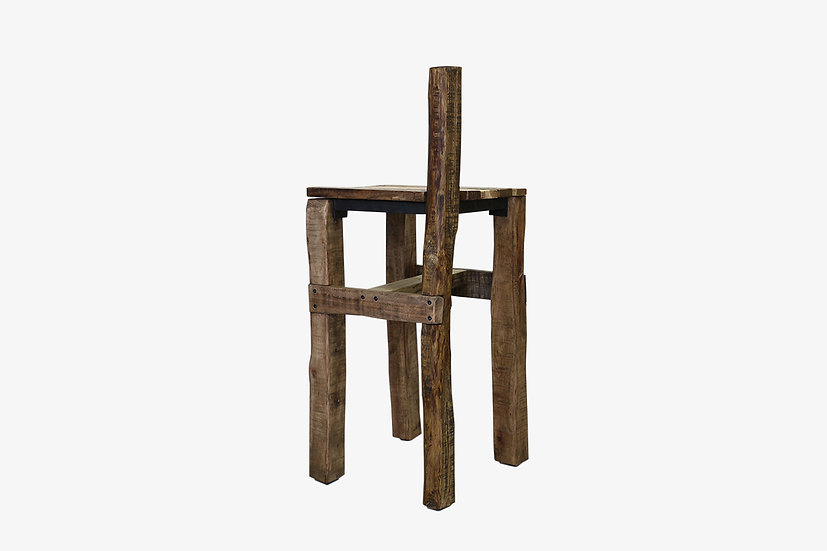 解体材と古鉄の花台【ジャック002】サイドテーブル