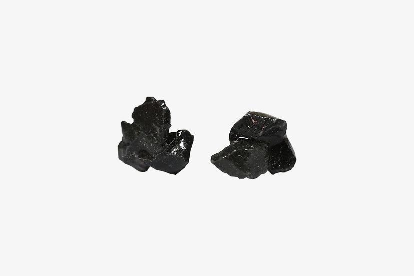 天然石のアソートピアス|ブラック