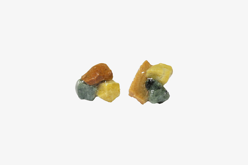 天然石のアソートピアス|3カラー