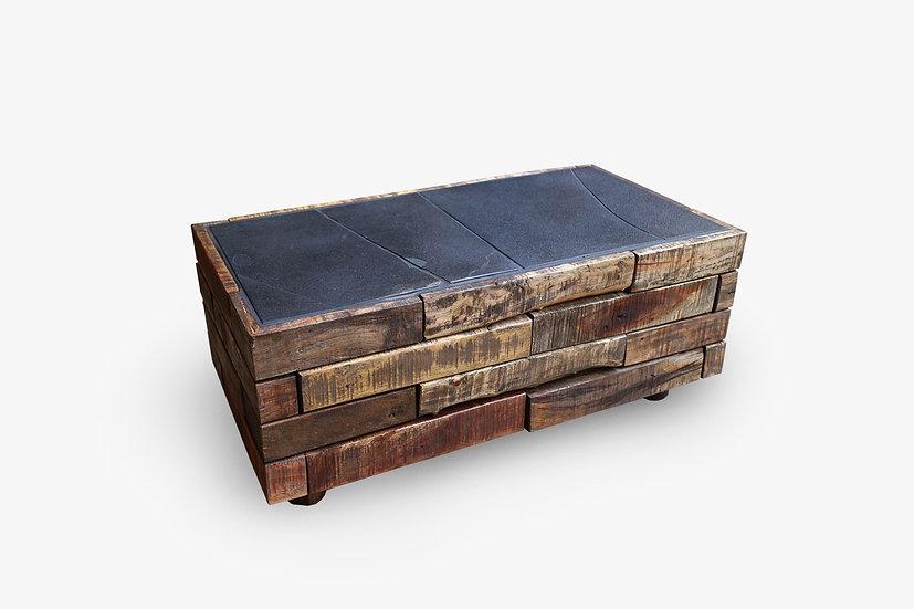 解体材と継石のローテーブル【ブルータス】一点物