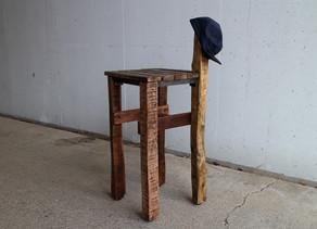 売り切れです 古材と古い鉄端材の花台【ジャック】
