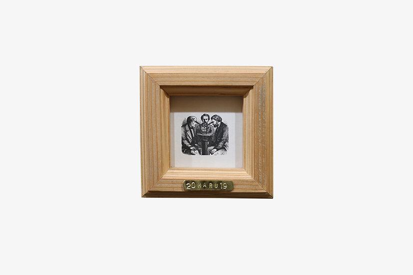 L版正方形CL|玄関ドア~石膏ボードの壁|国産杉のくっつく額縁