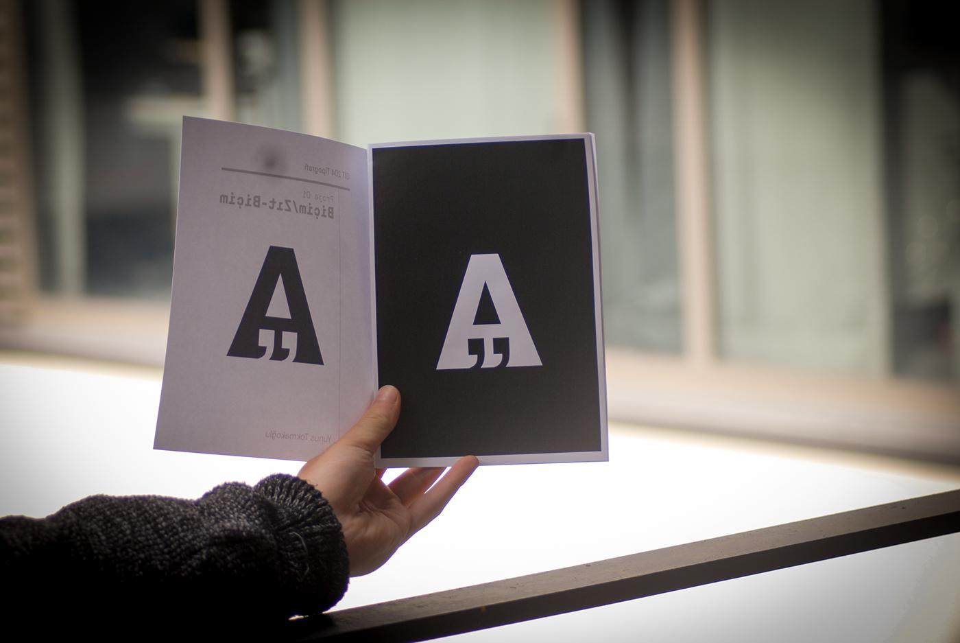 A harifinin tipografi değerlerinde