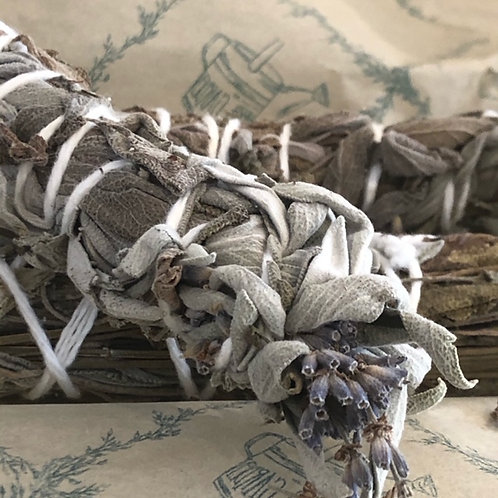 Organic Lavender & Sage smudge sticks